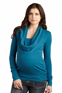 SOLD OUT Maternal America Cowl Neck Maternity Sweater