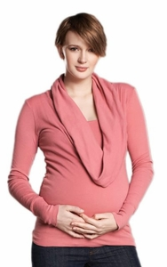 SOLD OUT Maternal America Cowl Neck Maternity Top