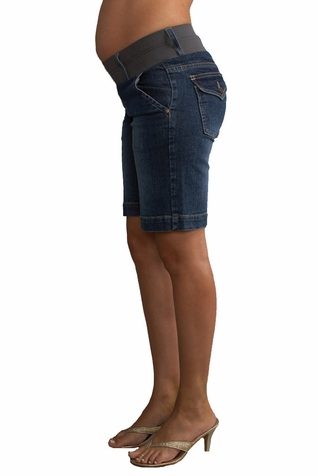 SOLD OUT Maternal America Denim Maternity Shorts