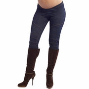 SOLD OUT Maternal America Denim Moto Cross Leggings