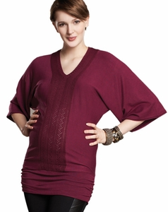 Maternal America Dolman Sleeve Maternity Sweater