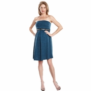 SOLD OUT Maternal America Embellished Jacquard Strapless Maternity Dress