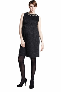 Maternal America Embellished Neck Maternity Dress