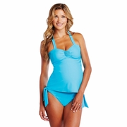 SOLD OUT Maternal America Emma Embellished Maternity Halter Tankini Swimsuit