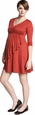 Maternal America Faux Wrap Maternity & Nursing Dress