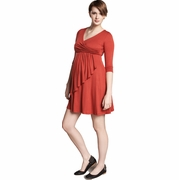SOLD OUT Maternal America Faux Wrap Maternity & Nursing Dress