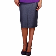 Maternal America Front Pleat Maternity Skirt