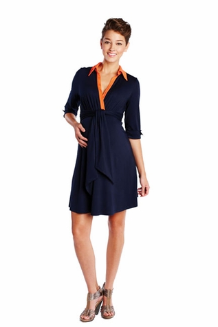 SOLD OUT Maternal America Front Tie Maternity And Nursing Shirt Dress