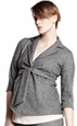 Maternal America Front-Tie Maternity Blazer