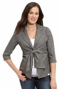 SOLD OUT Maternal America Front-Tie Maternity Blazer