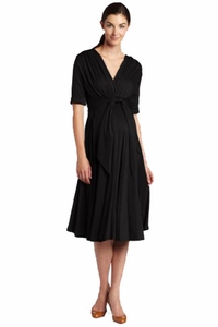 Maternal America Front Tie Maternity Dress