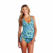 Maternal America Josie Two Piece Maternity Tankini Swimsuit - Paisley
