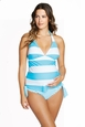 Maternal America Josie Two Piece Maternity Tankini Swimsuit -Stripes