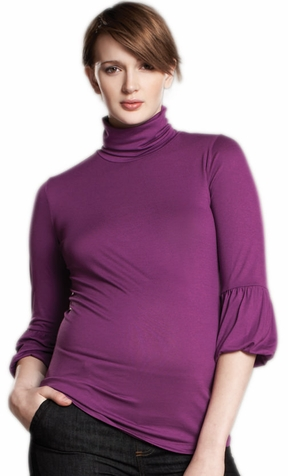 SOLD OUT Maternal America Lantern Sleeve Maternity Top