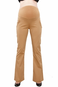 Maternal America Lightweight Twill Bootleg Maternity Pants