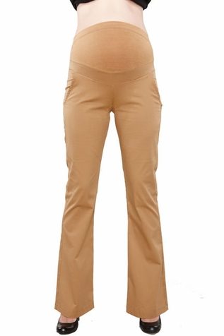 SOLD OUT Maternal America Lightweight Twill Bootleg Maternity Pants