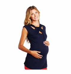 Maternal America Loop Neck Maternity Top