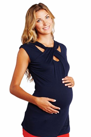 SOLD OUT Maternal America Loop Neck Maternity Top