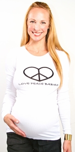 Maternal America Love Peace Babies Maternity Tee - FINAL SALE