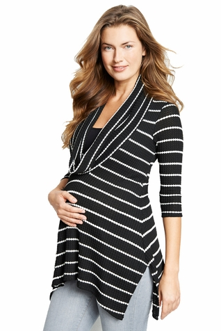 Maternal America Maternity Nursing Cowl Neck Top