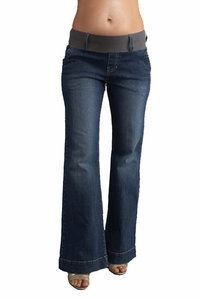 Maternal America Megan Trouser Jeans - Blue Wash
