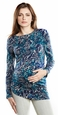 Maternal America Pleated Shoulder Maternity Top