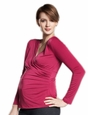 Maternal America Pleated Wrap Maternity Top