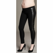 Maternal America Pleather Knit Maternity Leggings