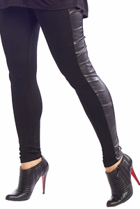 SOLD OUT Maternal America Pleather Knit Maternity Leggings