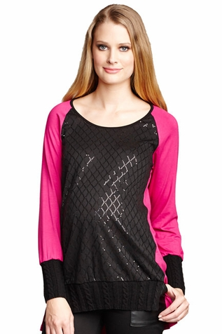 SOLD OUT Maternal America Raglan Sleeve Sequin Maternity Top