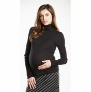 Maternal America Ribbed Maternity Turtleneck