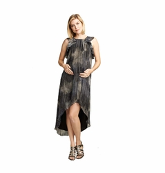 SOLD OUT Maternal America Ruffle Chiffon Hi-Lo Maternity Dress