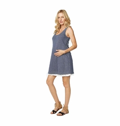 Maternal America Ruffle Hem Maternity Tank Dress
