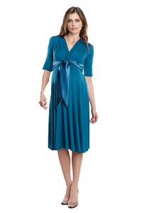 Maternal America Satin Front Dress