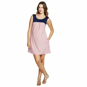 Maternal America Seersucker Babydoll Maternity Dress