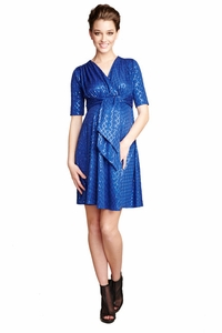 SOLD OUT Maternal America Sequined Front Tie Maternity Party Dress