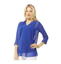 Maternal America Sheer Chiffon Maternity Blouse