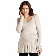Maternal America Side Tie Wrap Maternity Top