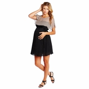 Maternal America Silk Cape Maternity Dress