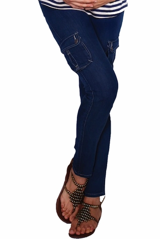 SOLD OUT Maternal America Skinny Cargo Maternity Jeans - FINAL SALE