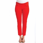 Maternal America Skinny Maternity Ankle Jeans - Cherry Red