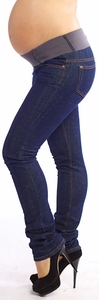 Maternal America Skinny Maternity Jeans - Blue Wash