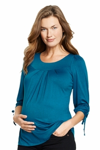 Maternal America Sleeve Tie Maternity Top