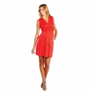 Maternal America Sleeveless Front Tie Maternity Dress