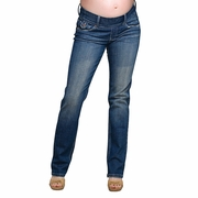 Maternal America Slim Leg Flap Pocket Maternity Jeans