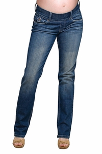 SOLD OUT Maternal America Slim Leg Flap Pocket Maternity Jeans