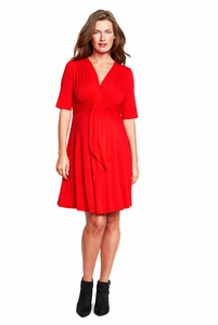 SOLD OUT Maternal America Solid Mini Front Tie Maternity Dress