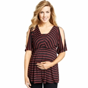 Maternal America Split Shoulder Maternity Nursing Top