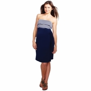 Maternal America Strapless Maternity Wrap Dress