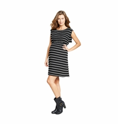 Maternal America Striped Kimono Maternity Dress